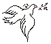 dove drawing with olive branch